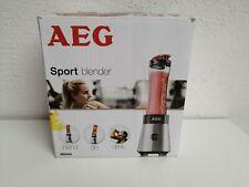 AEG Mini Mixer Smoothiemaker Standmixer Edelstahlgehäuse mit Trinkflasche 0,6 l