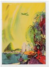 RIO DE JANEIRO, SAS - THE GLOBAL AIRLINE: Aviation advertising postcard (C38573)