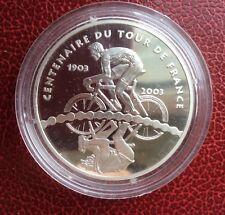 France - Magnifique monnaie de 1€ 1/2 2003 BE Argent - 100 Ans Tour de France