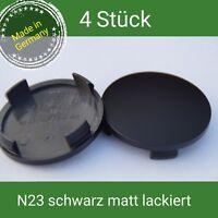 N 23 schwarz matt lackiert Nabenkappen Felgendeckel 60 mm Rial Alutec ATS 4 St.