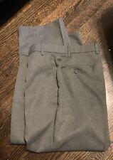 Men's Gray Levi Action Slacks Levis Polyester Pants 40x27 40 27 Gray Pants