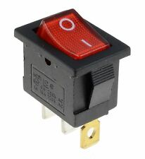 Red illuminated LED Rectangle Rocker Switch Car Dash Automotive 12V SPST