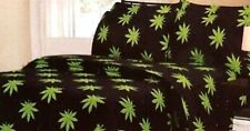 MARIJUANA POT LEAF- 5 pc. KING SIZE COMFORTER & SHEET SET by REGAL COMFORT
