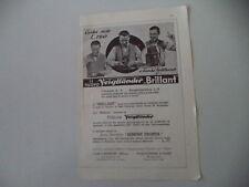 advertising Pubblicità 1932 VOIGTLANDER BRILLANT