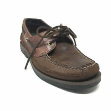Men's Sperry Top-Sider Mako Boat Shoes Sneakers Size 7 Brown Leather Casual AB9