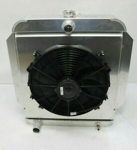 AFCO RADIATOR with FAN and SHROUD 1953-56 Ford Truck  Aluminum  Blem  NEW