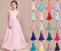 New Lace Princess Flower Girl Dress Wedding Junior Bridesmaid Dresses 2-14 Years