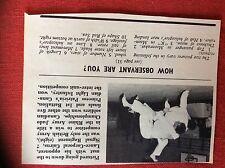 m2r ephemera  1965 picture british army judo cairns signal regiment