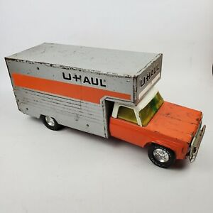 "Vintage 1970's Nylint Die Cast Pressed Steel UHaul Moving Box Truck Large 19"""