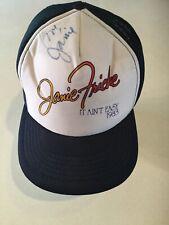 Vintage 80's Autographed Janie Fricke Tour Concert Trucker SnapBack Hat Cap