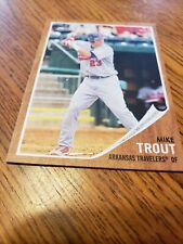 Mike Trout Rookie 2011 Topps Heritage Arkansas Travelers #44 OF