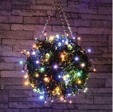 Set 120 LED Luces de Hadas Decorativo WW Multicolor Navidad Navidad Temporizador al aire libre