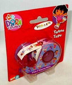 Nick Jr. DORA THE EXPLORER Tattoo Tape 3 Feet Of Temporary Tattoos NIP