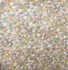 "Tiny Pink &  White Flowers on Gray  Curtains, 42"" Wide63"" Long, Made in the USA"