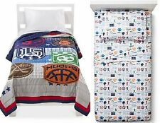 NEW CIRCO GAME ON FULL / QUEEN QUILT & SPORT ZONE FULL SHEET SET 5 PC ALL STAR