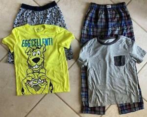 LOT 2 pair Boys/Girls GAP KIDS Size 10 PAJAMAS PJ's 1 long 1 short pants Scooby