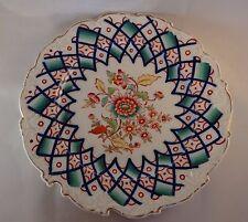 """Antico Ciambellano Worcester Turchese 10.5"""" Floreale Smerlato in lastra c1850"""