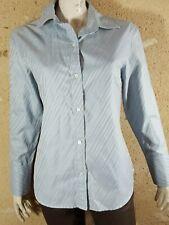 BANANA REPUBLIC Taille L  Superbe chemise manches longues femme bleu gris shirt