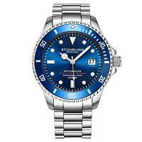 Stuhrling Men's Swiss Automatic 883 DEPTHMASTER Professional Dive Watch