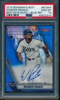 PSA 10 WANDER FRANCO AUTO 2019 Bowman's Best BLUE REFRACTOR #/150 RC GEM MINT