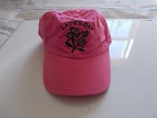 WOMENS Pink COTTON BASEBALL CAP HAT LADIES DAY adjustable