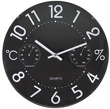 Orologio da parete Valex con termometro ed igrometro cm 30,5 con vetro
