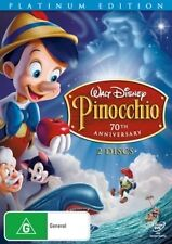 PINOCCHIO - 70TH ANNIVERSARY PLATINUM EDITION (2DVD SET) BRAND NEW!!! SEALED!!!