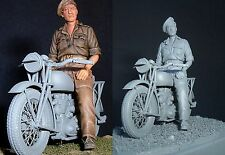 Sovereign 2000 BRITISH MOTORCYCLE rétroaction Rider FIGURE ONLY ww2 1/35 unptd Kit