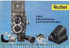 1960 ROLLEIFLEX & rolleicord brochure accessoires pratiques, plus Rollei énumérés