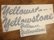 """Yellowstone Vintage Style Travel Trailer Decal, 23"""" & 11"""" Black Diecut Set of 4"""