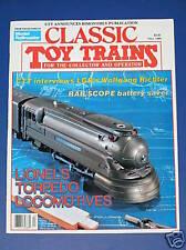 CLASSIC TOY TRAINS MAGAZINE-FALL 1989