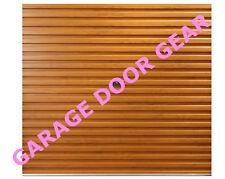 GLIDEROL Roller Garage Door - 7ft   GOLDEN OAK LAMINATE