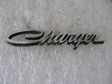 METAL DODGE CHARGER STICK ON NAMEPLATE   EMBLEM  BADGE SCRIPT TRIM   METAL