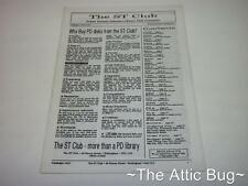 The ST Club Catalogue ~ Version 10.0 ~ Atari ST