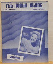 I'll Walk Alone - 1944 vintage sheet music - Dinah Shore photo cover