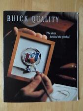 BUICK qualità Safety & Security ORIG 1994 Stati Uniti Mercato Opuscolo lucida