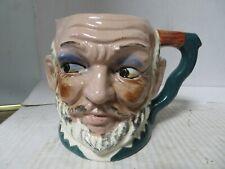 "Vintage Toby Ceramic Mug or Pitcher Bald Bearded Man 4-1/2"" tall"