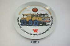 Porzellan Teller 35 JAHRE VEB Kfz Instandsetzung ERFURT DDR Tatra Lkw #211016