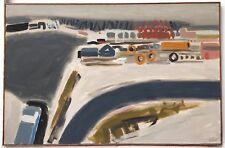 Celice Pierre huile sur toile signée 1965 Montparnasse Evreux port de Dunkerque