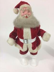 "Santa Claus Harold Gale Vintage Rubber Face 1950's Doll Figure 14"" Christmas"