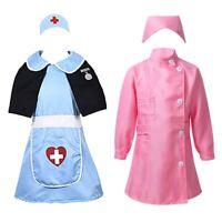 Kids Girls Nurse Cosplay Fancy Dress Up Toddlers Halloween Carnival Costume Sets