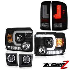 Sinister Black LED Tail Lights Front Halo Headlights Smoke Foglights GMC Sierra
