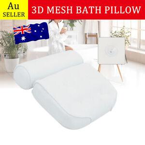 Spa 3D Mesh Bath Pillow Breathable Bathtub Cushion Neck Back Support Tub Suction