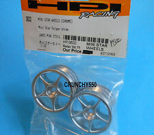 HPI Racing 3632 Mini Star Wheels Chrome Vintage RC Part