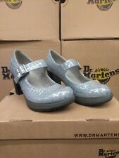 DR MARTENS LADIES MARLENA HEELED SHOE GREY AND SILVER SIZE 4