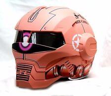 Masei 610 Zaku II Gundam Atomic Flip-Up Bike Motorcycle Helmet Red Chopper
