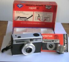 Vintage Agfa Isoflash rapid C Camera Isitar Lens Made in Germany Original Box