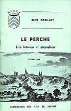 BROCHURE LE PERCHE RENE GOBILLOT 1970