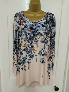 Phase Eight  Asymmetric  Floral Top Size 14