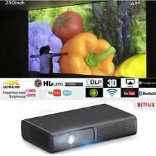Tragbarer 9000 Lumen DLP Android Projektor Wifi 4K HD 3D Heimkino-Beamer HDMI SD